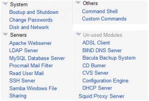 webmin linux web admin