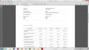 Swiapp PDF Invoice