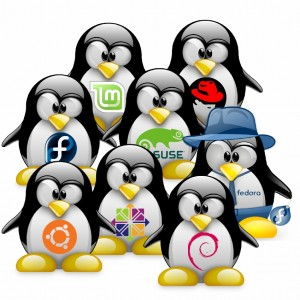 Linux Versions with Tux