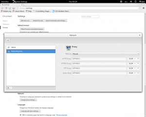 Proxy configuration client side